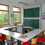 Klassenzimmer mit Tafel